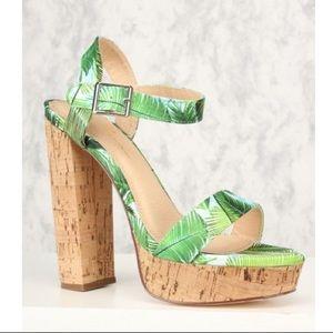 Olivia James cork wedge heels Sz 6.5